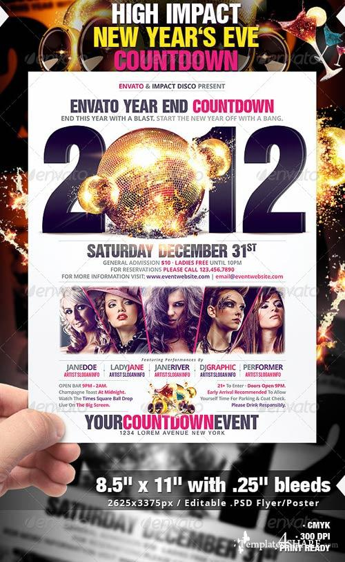 GraphicRiver High Impact New Year's Eve Countdown Flyer/Poster