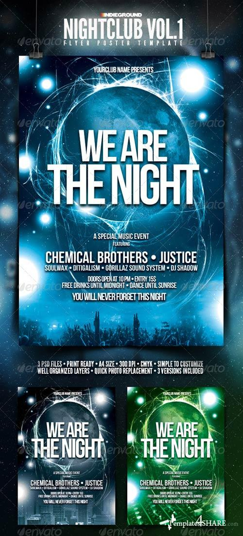 GraphicRiver Nightclub Flyer/Poster Template