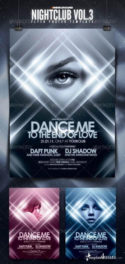 GraphicRiver Nightclub Flyer/Poster Template Vol. 3