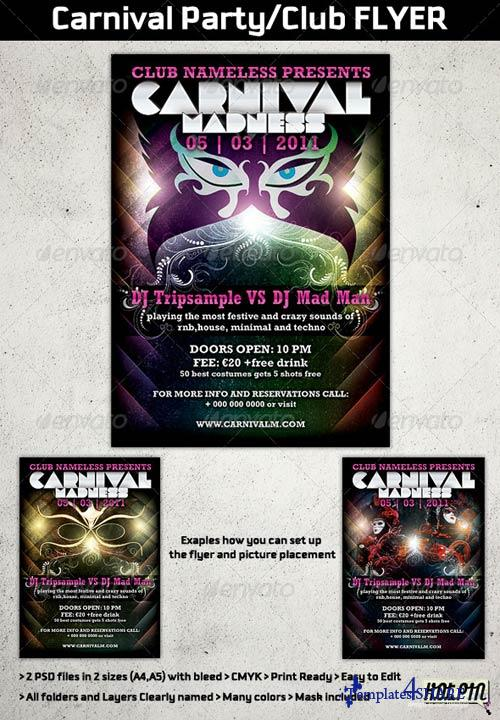 GraphicRiver Carnival Party/Club Flyer