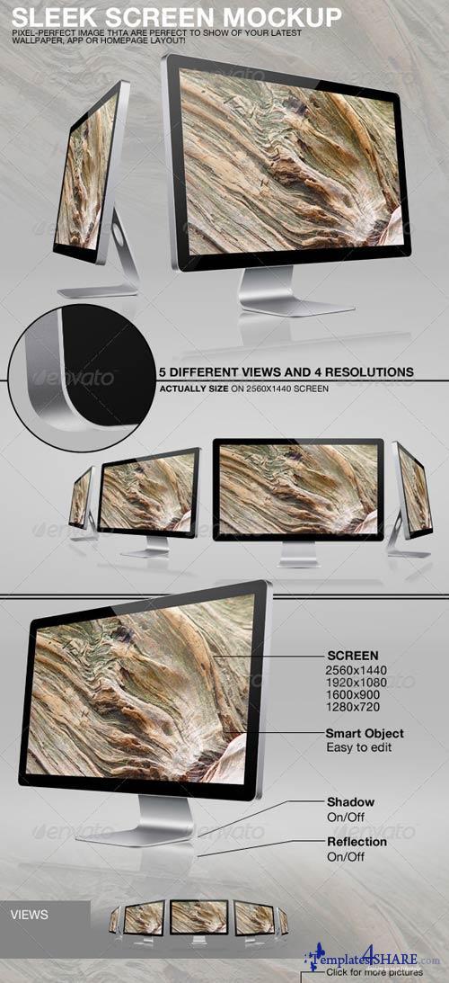 GraphicRiver Sleek Screen Mockup Template