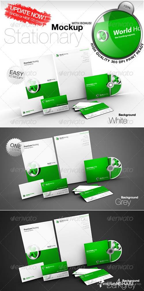 GraphicRiver Stationary Mockup Templates