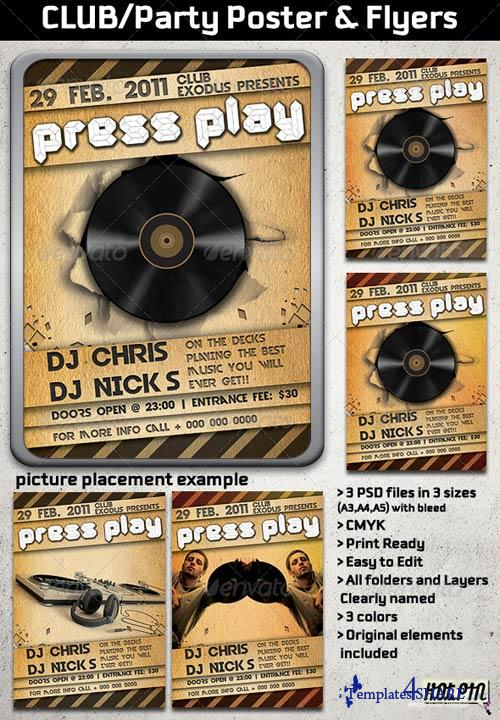 GraphicRiver CLUB/Party Poster and Flyers