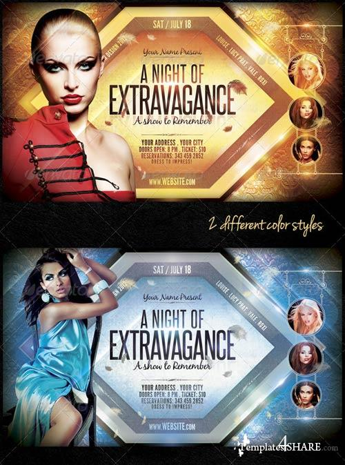 GraphicRiver A Night Of Extravagance Flyer Template