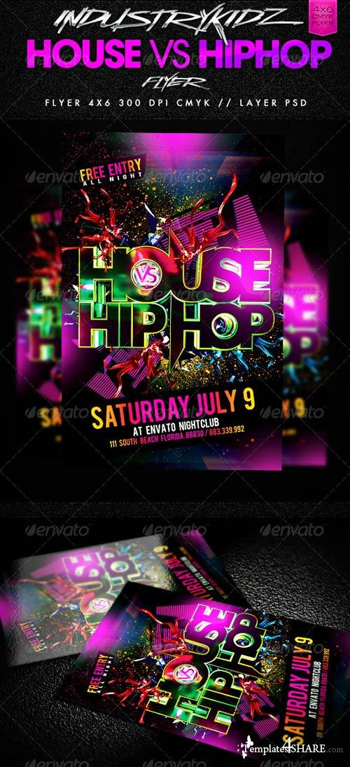 GraphicRiver House Vs HipHop Party Flyer