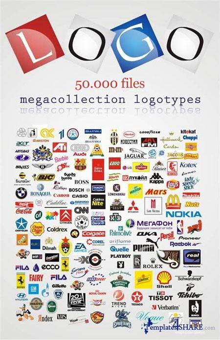 50000 Commercial Vector Logos Collection