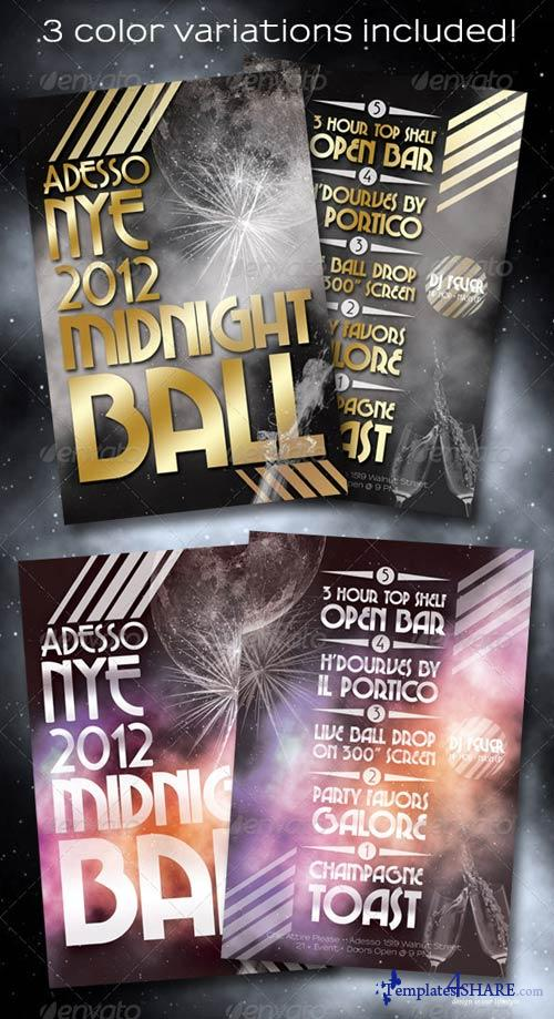 GraphicRiver Midnight Ball New Years Eve Flyer