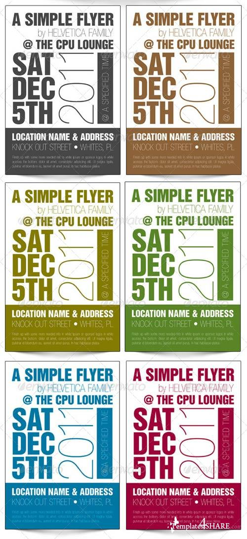 GraphicRiver Helvetica One Color 4x6 Flyer Template