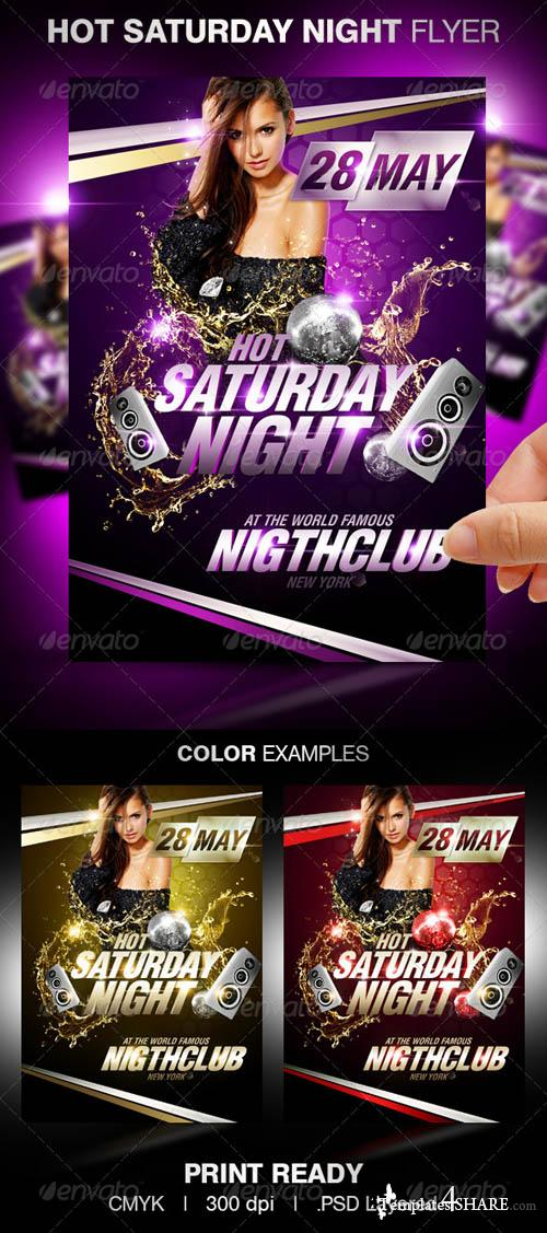 GraphicRiver Hot Saturday Night Flyer Template