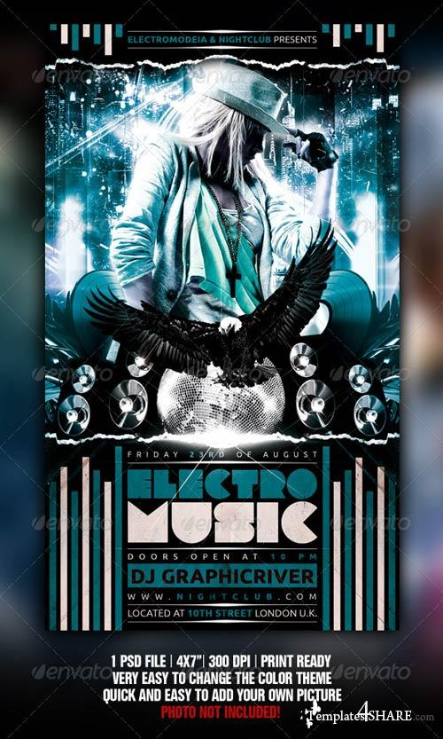 GraphicRiver Electro City Flyer