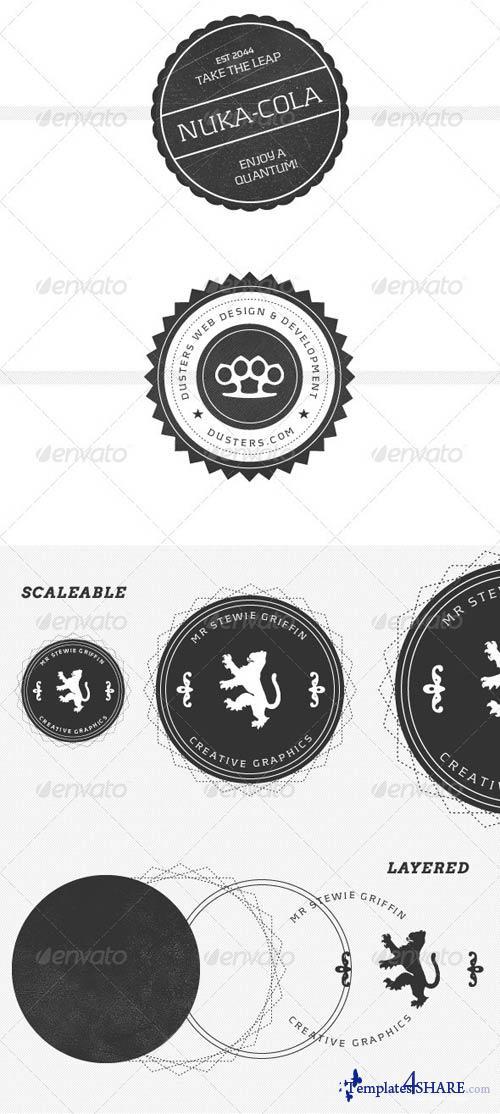 GraphicRiver Modern, Vintage Inspired Logo Stamps