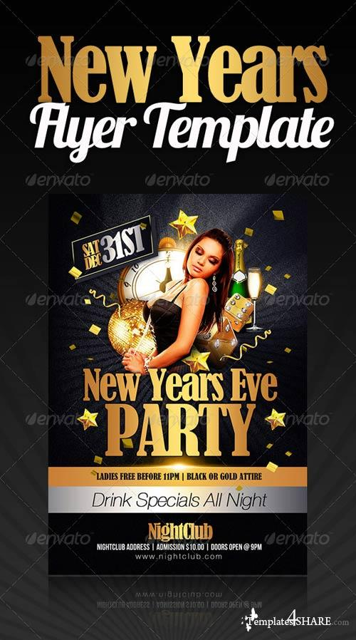 GraphicRiver New Years Party Flyer 1127709