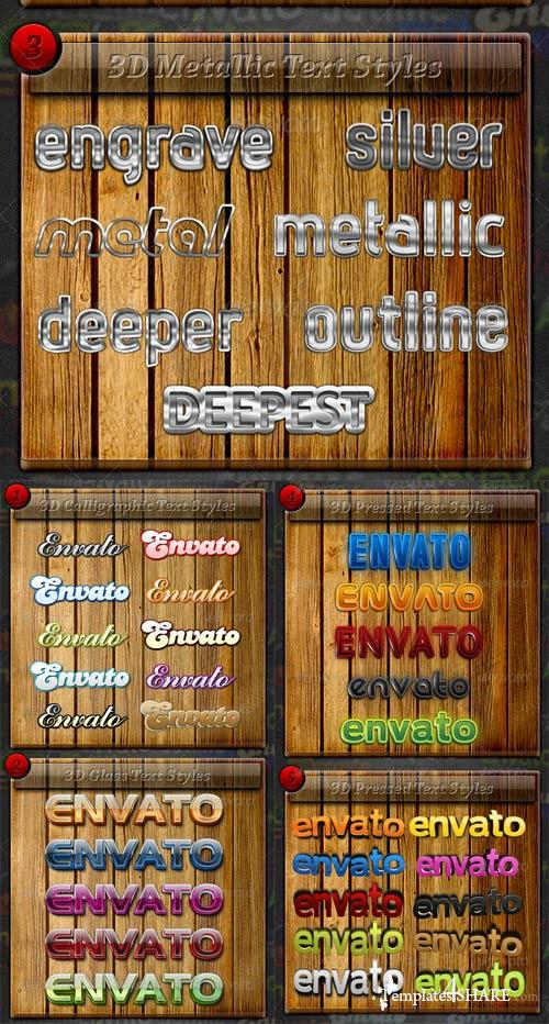 GraphicRiver Premium 3D Text Styles Bundle