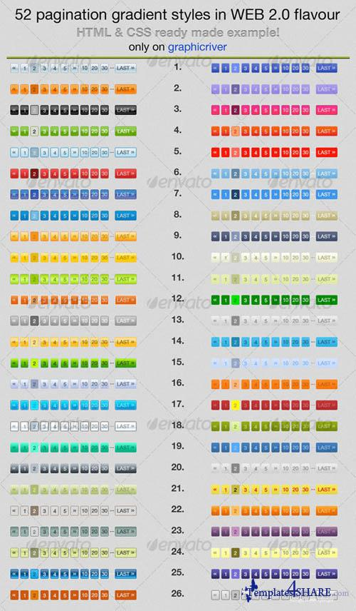 GraphicRiver 52 Page Navigation Gradient Styles
