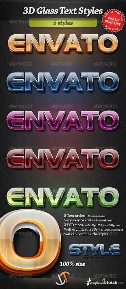 GraphicRiver 3D Glass Photoshop Text Styles