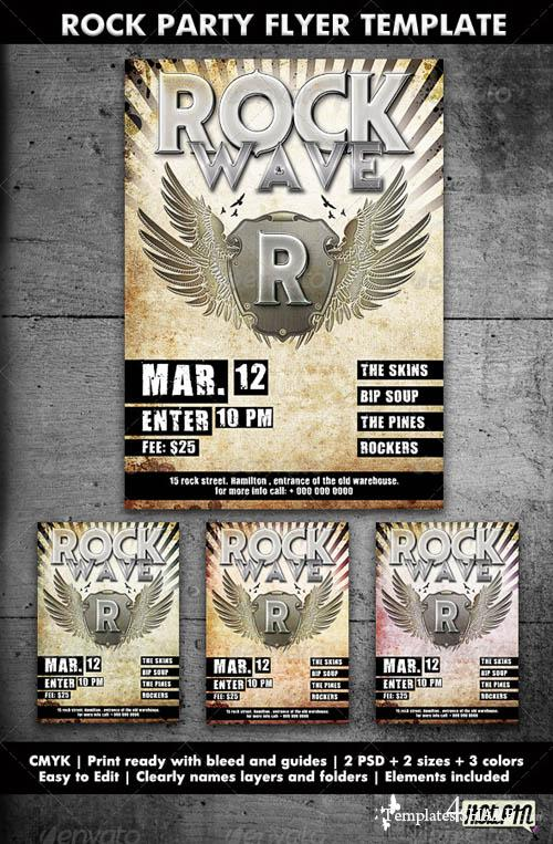 GraphicRiver Concert/Rock Party Flyer