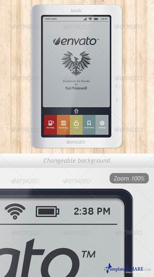 GraphicRiver E-ink Reader Mock-up