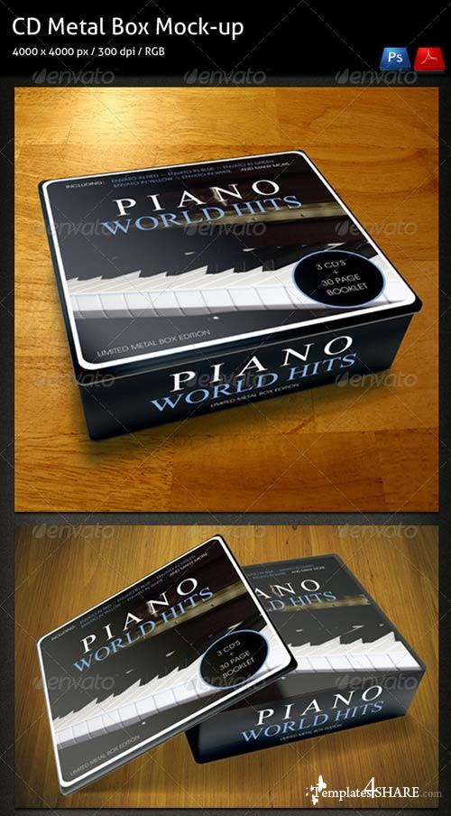 GraphicRiver CD Metal-Box Mock-up