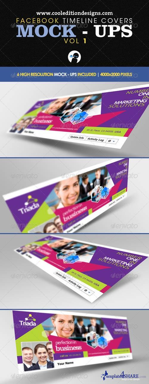 GraphicRiver Facebook Timeline Covers Mock-Ups VOL1