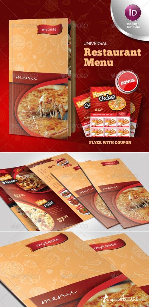 GraphicRiver Universal Restaurant Menu Indesign Template