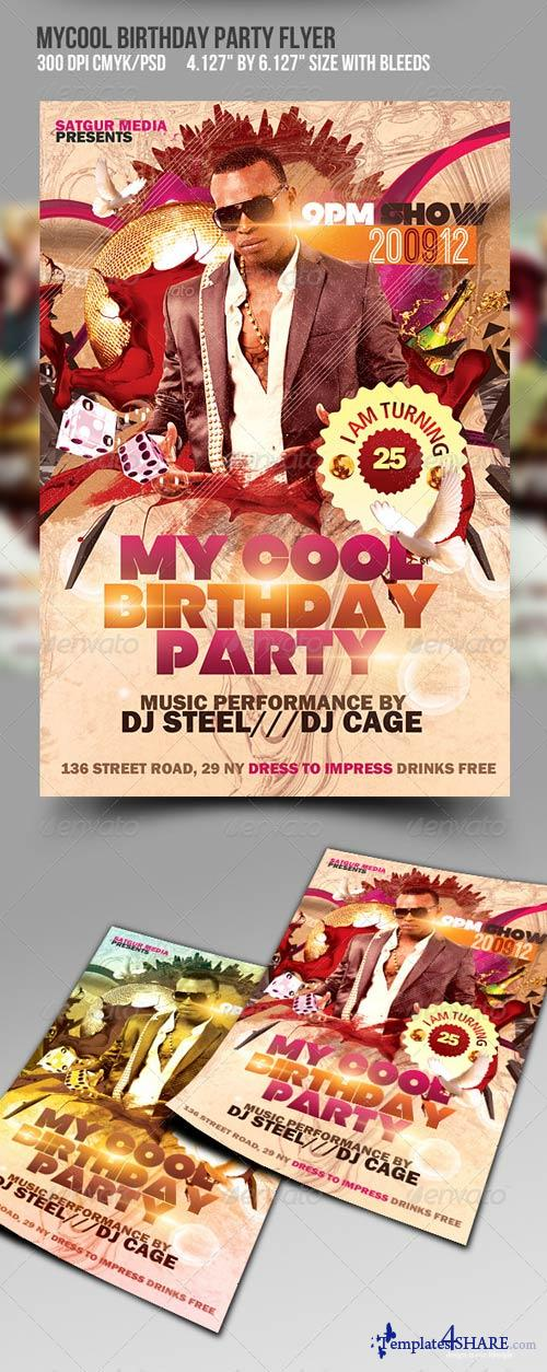 GraphicRiver My Cool Birthday Party Flyer