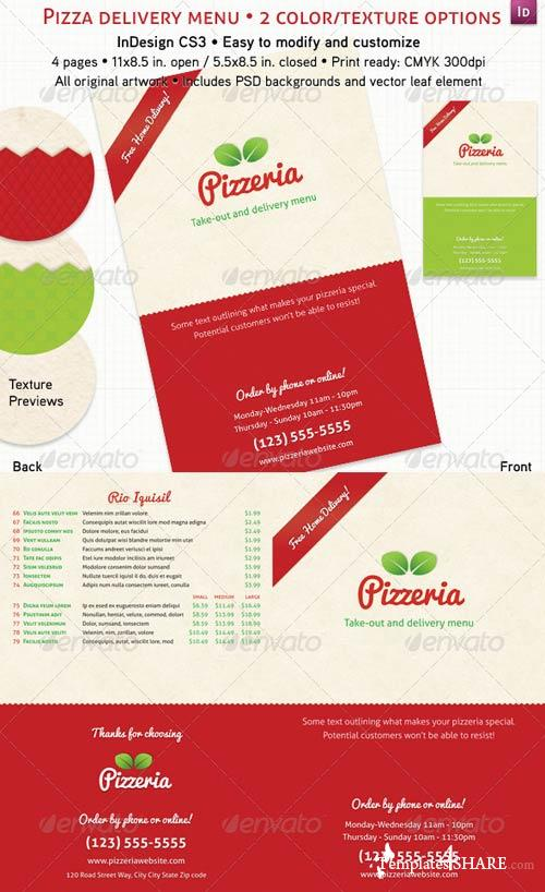 GraphicRiver Pizzeria Menu (4 Pages)