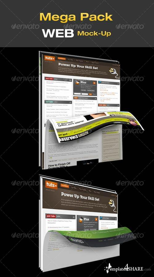 GraphicRiver Mega Pack WEB Mock-Up
