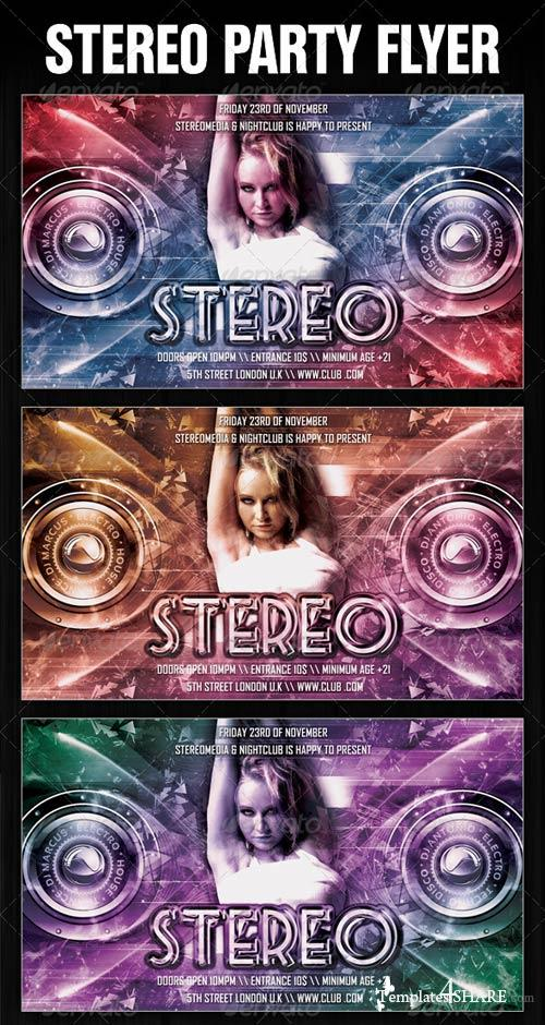 GraphicRiver Stereo Party Flyer