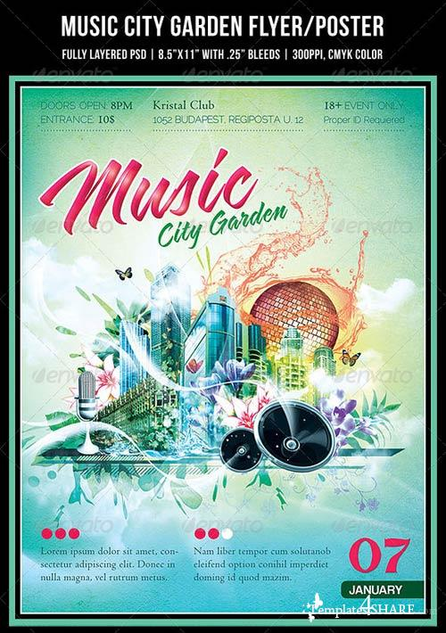 GraphicRiver Music City Garden Party Poster/Flyer