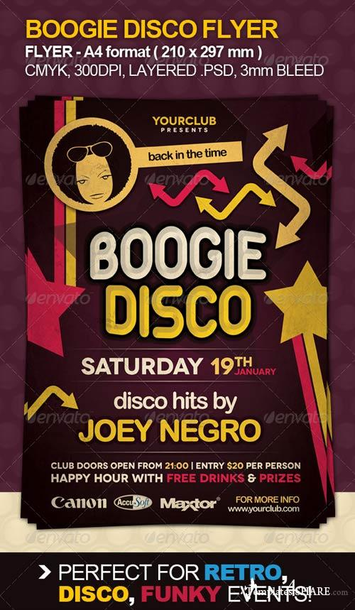 GraphicRiver Boogie Disco Flyer