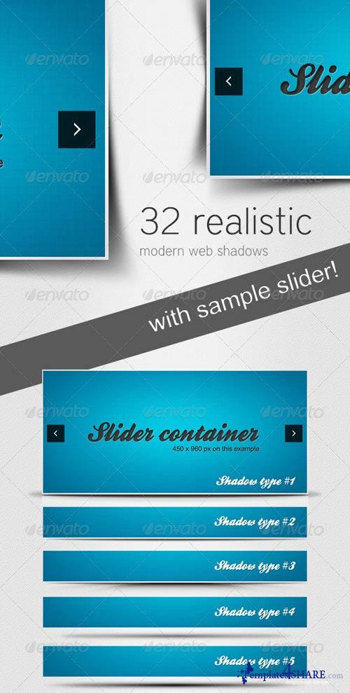 GraphicRiver 32 Realistic Modern Web Shadows
