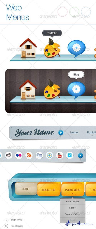 GraphicRiver New Web Menu