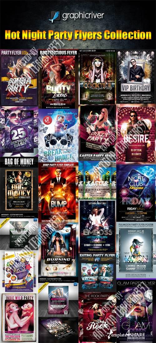 GraphicRiver Hot Night Party Flyers Collection