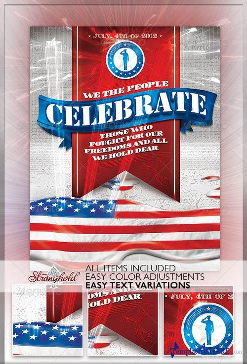GraphicRiver Celebrate 4th of July Flyer