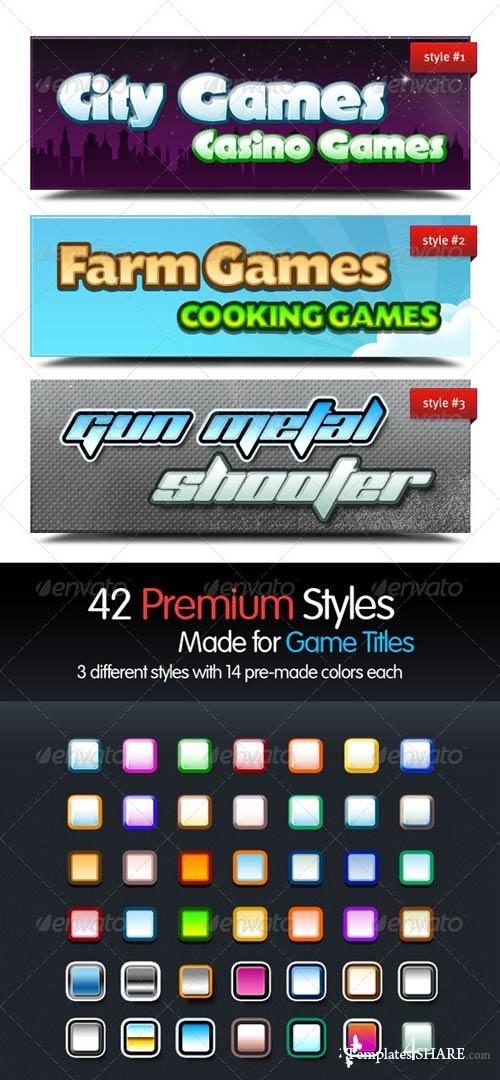 GraphicRiver Premium Text Styles for Games