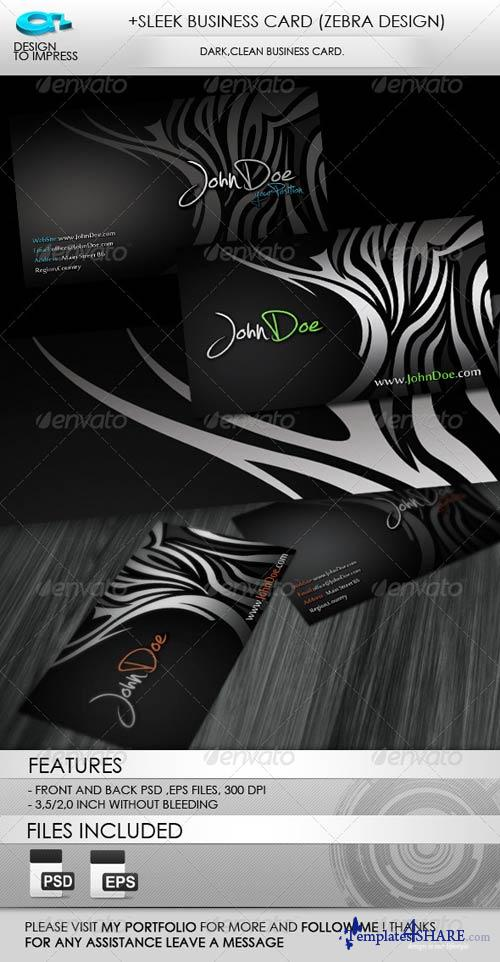 GraphicRiver +Sleek Business Card (Zebra Design)