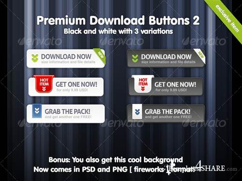 GraphicRiver Premium Download Buttons 02