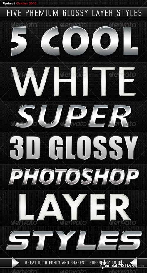 GraphicRiver White Modern 3D Glossy Layer Styles