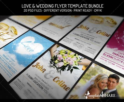 GraphicRiver Bundle III. - Love & Wedding - Flyer Template