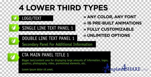 Unhinged Lower Thirds - Projects for After Effects (VideoHive)