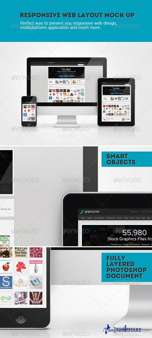 GraphicRiver Responsive Web Layout Mockup