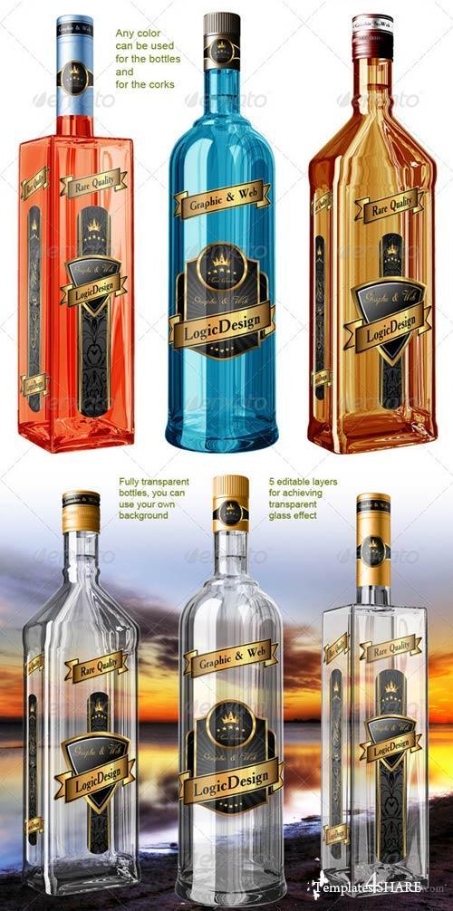 GraphicRiver Translucent Bottles Mock Up