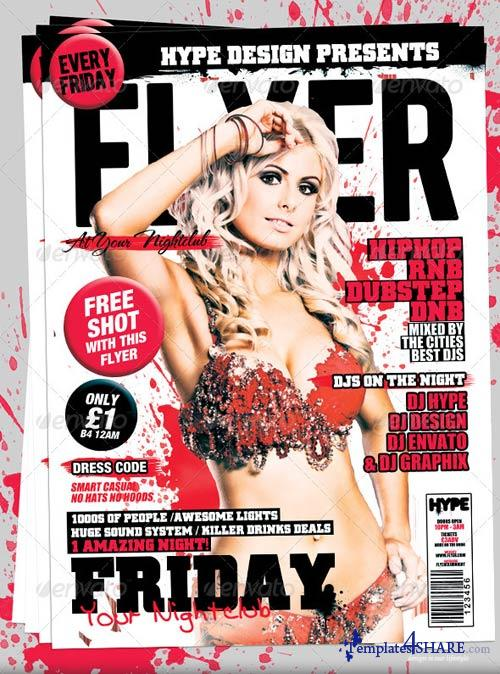 GraphicRiver Flyer Mag Magazine Style Flyer Template