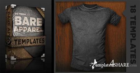 Go media's arsenal: shirt mockup templates. Volume 2 (psd.