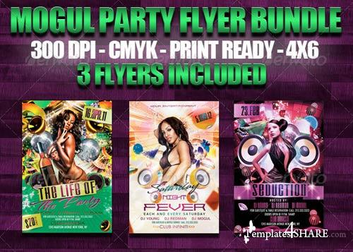 GraphicRiver Mogul Party Flyer Bundle
