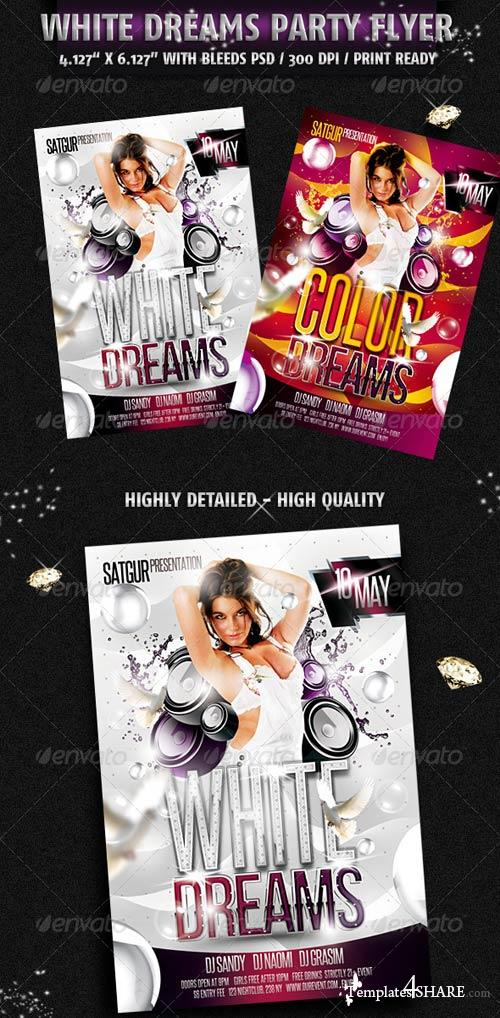 GraphicRiver White Dreams Party Flyer