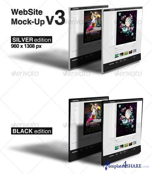GraphicRiver WebSite Mock-Up v3