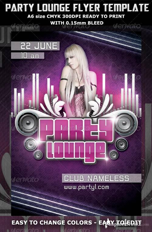 GraphicRiver Party Lounge Flyer Template