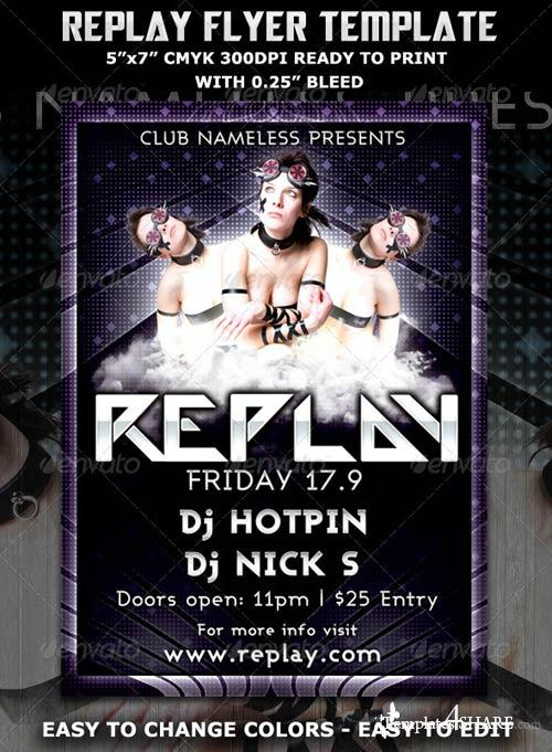 GraphicRiver Replay Party Flyer Template