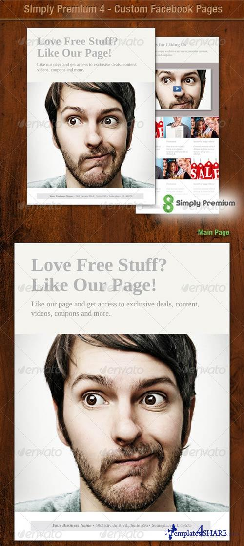 GraphicRiver Simply Premium 4 - Custom Facebook Page